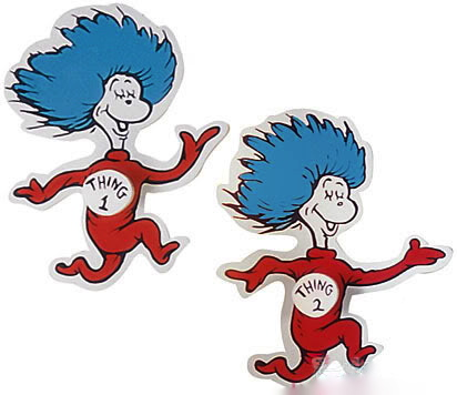 Dr Seuss Thing 1 and Thing 2